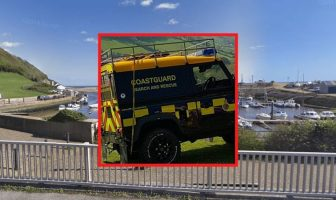 Coastguard from Beer and Lyme Regis were among emergency services called to the incident at Axmouth harbour near Seaton. Background image courtesy of Google Maps.