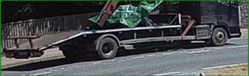 Police want to identify this flatbed lorry seen on the a35 near Dalwood and Axminster.