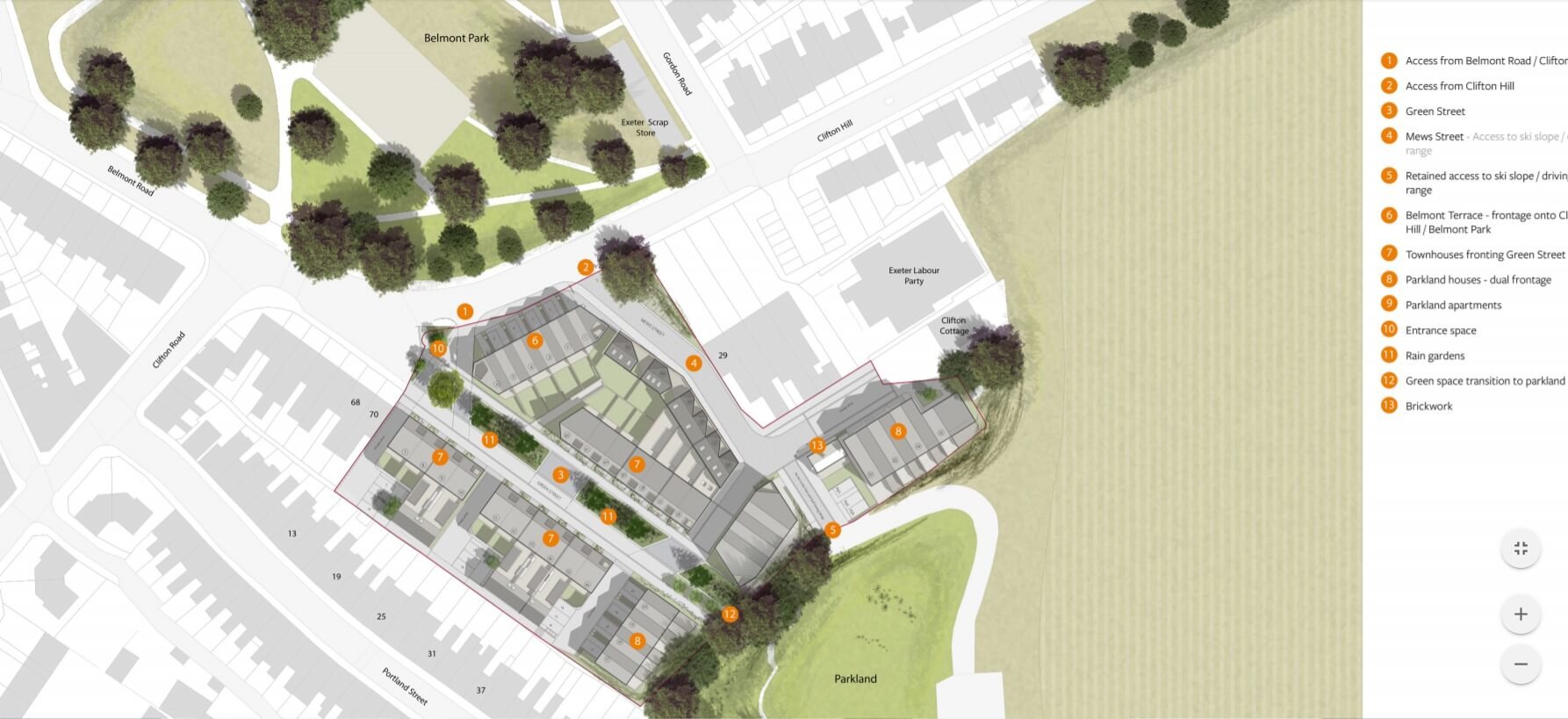 The Clifton Hill Masterplan. Image: Exeter City Living