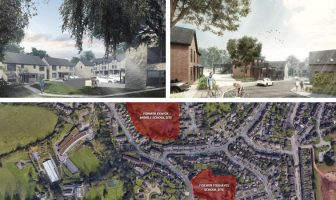 Seventy-four new homes will be built across the two sites in Exwick, Exeter. Pictures: LiveWest