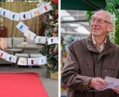 Lionel leaves home for the first time since lockdown to celebrate 95th birthday at Ottery garden centre