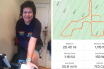 Seaton mum-of-two Liz Slade clocked up 26 miles on a virtual cycle ride for Force Cancer Charity.
