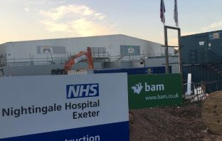 The Exeter Nightingale Hospital is being built in Sowton. Picture: EastDevonNews.co.uk