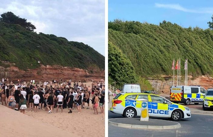 Police have been called to Exmouth beach to deal with large gatherings and fighting twice this week.