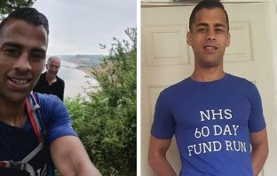 Sidford resident Zaq Bevan has been running every day since April 20 to boost the NHS.