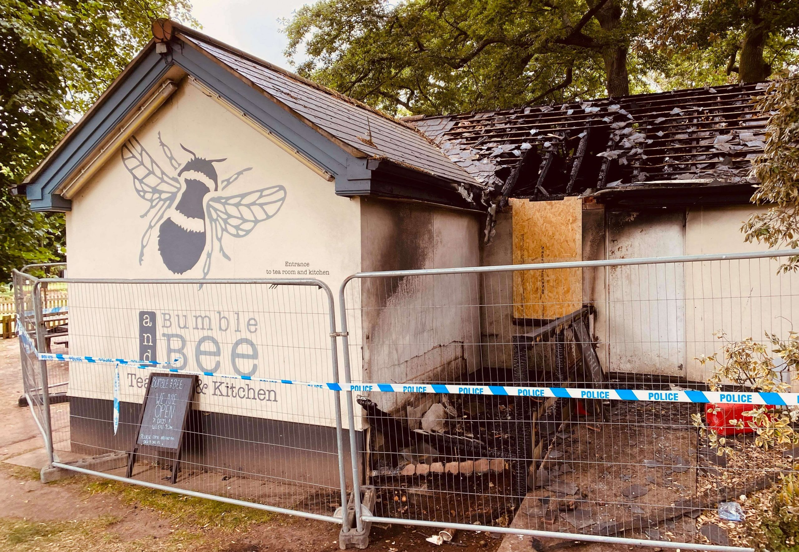 The damage at Bumble and Bee in Exmouth. Picture: Darrell Trigs
