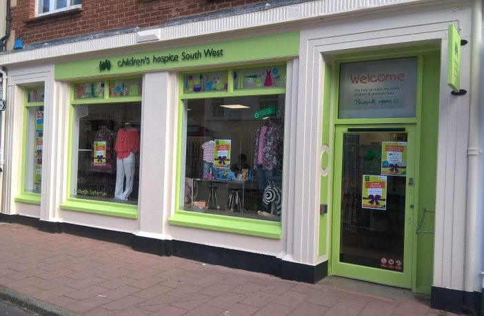 The Children's Hospice South West shop in High Street, Budleigh Salterton.