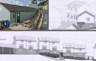 Plans to replace the old Beer Social Club, in Berry Hill. Images: Google Maps/Beer Community Land Trust