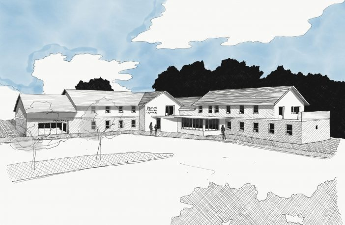 An artist's impression of an expanded The Beacon Medical Centre in Sidmouth. Image: Sid Valley Practice