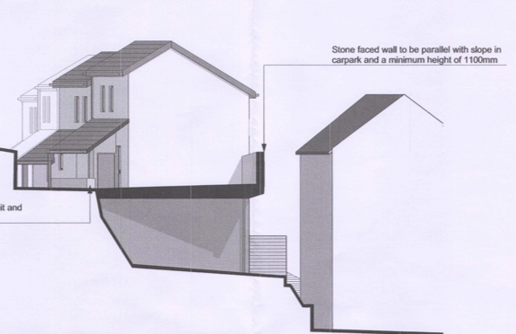 From the planning application for home to replace Beer Social Club, in Berry Hill. Image: Beer Community Land Trust