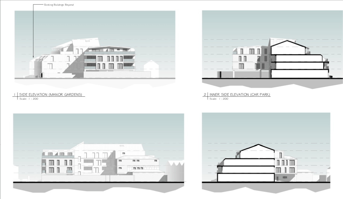 From the planning application for of the apartment block in Exmouth. Image: Stagg Inns Ltd/ARA Architecture