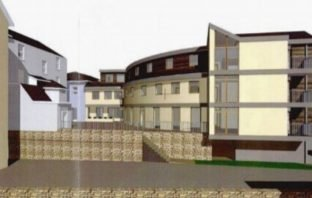An artist's impression of the proposed flats at Vintage Court, Seaton. Image shown to the East Devon District Council's Development Management Committee