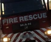 Casualty rescued by firefighters after ride-on lawn mower drops 15-feet over a bank near Sidmouth