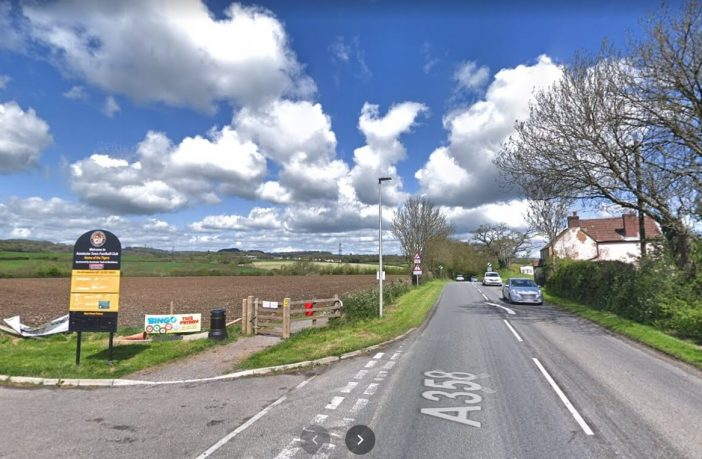 The turning from Tiger Way in Axminster, just before the 60mph speed limit. Image: Google Maps