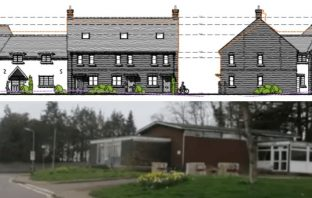 Varied proposals for homes in Lyme Close to replace the former Axminster Police Station. Plans image: ARC Architecture