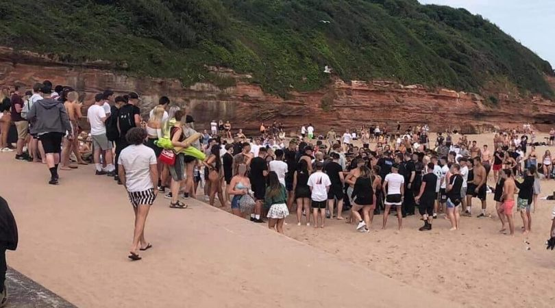 Police were called to Exmouth beach on Thursday, June 25.