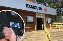 The attack happened outside Exmouth train station in Marine Way.