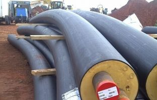 District heating pipes at Cranbrook. Image: Exeter and East Devon Growth Point