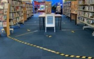 The revised layout inside Honiton Library. Image: Libraries Unlimited