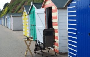 East Devon Beach huts in West Walk, Seaton. Picture: EDDC