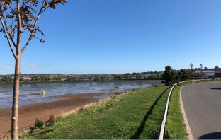 One of the areas in Exmouth the new sea defences will protect. Image shown to the East Devon District Council's Development Management Committee