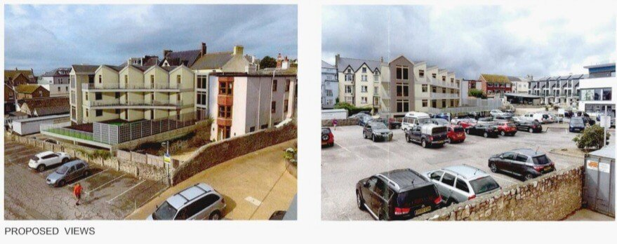 Existing views of the site in Seaton.