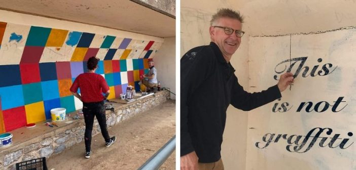 Creativity needed to show some love for Exmouth as beach seat shelter gets facelift