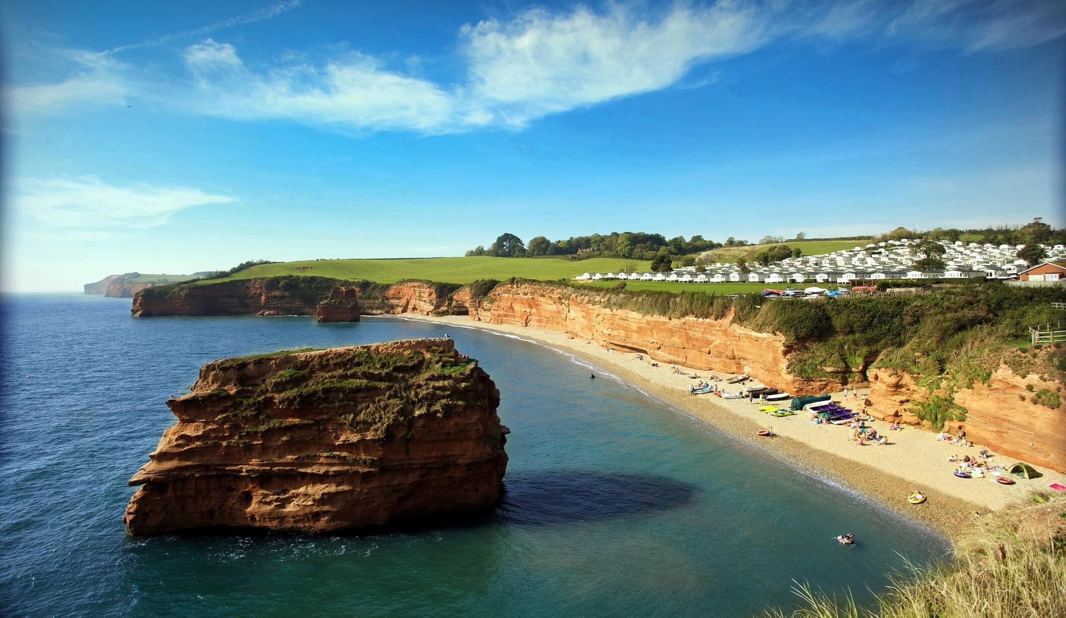 A view of Ladram Bay Holiday Park in East Devon. Picture contributed.