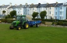 Work begins on the new green at Seaton Bowling Club. Image contributed.