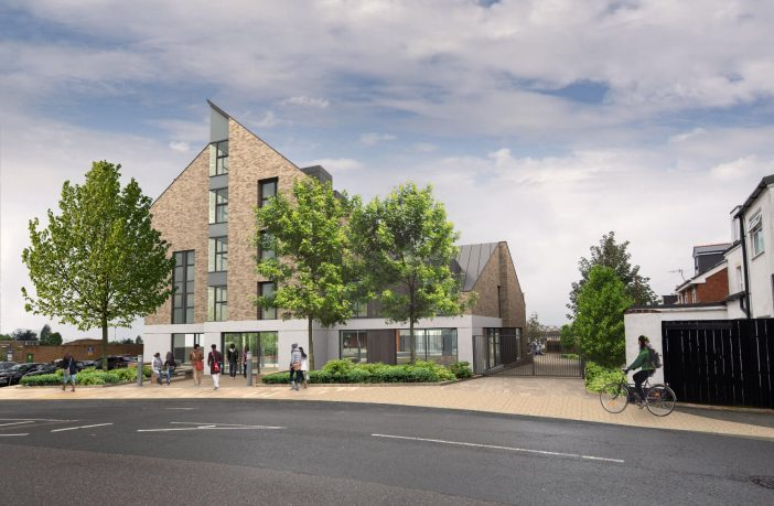 An artist's impression of the Gladstone Road co-living development in Exeter. Image: Watkin Jones Group