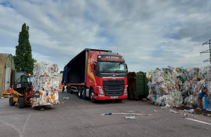 Plastic bags in Exeter being sent off to be made into litter bin sacks. Picture: Exeter City Council