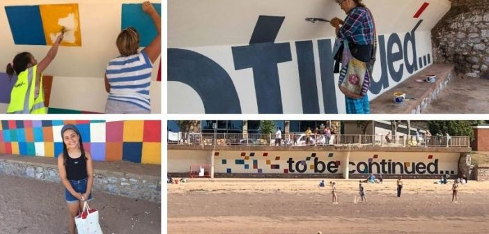 The colour of love… Exmouth creatives make their mark on seafront shelters ready for 2021 art project