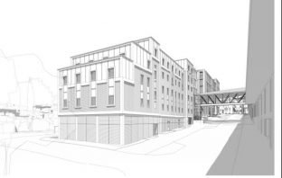 A new artist's impression of the proposed Harlequins redevelopment in Exeter. Image from the planning application.