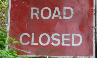 Road closed Exeter East Devon