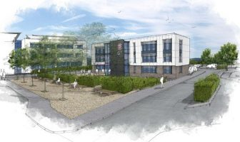 An artist's impression of the new building at Exeter Science Park. Image: Exeter City Council