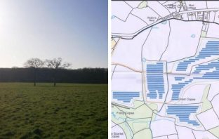 Plans for the solar farm on land south of Rockbeare Hill, Marsh Green, in East Devon. Images shown to the EDDC Planning Committee