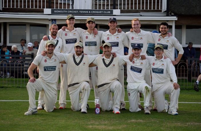 Sidmouth Cricket Club 1st XI after their win over Heathcoat. Picture: Serena Knowles
