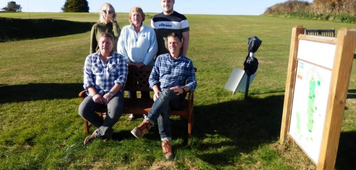 Axe Cliff golf: Bench in memory of Peter and a good turnout for annual Yellow Ball Trophy