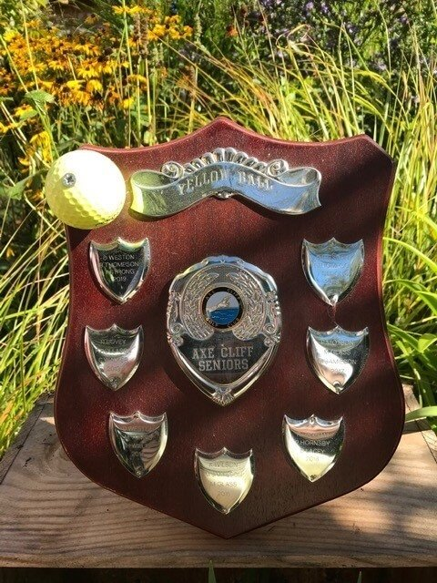 The Axe Cliff Golf Club Yellow Ball Trophy.