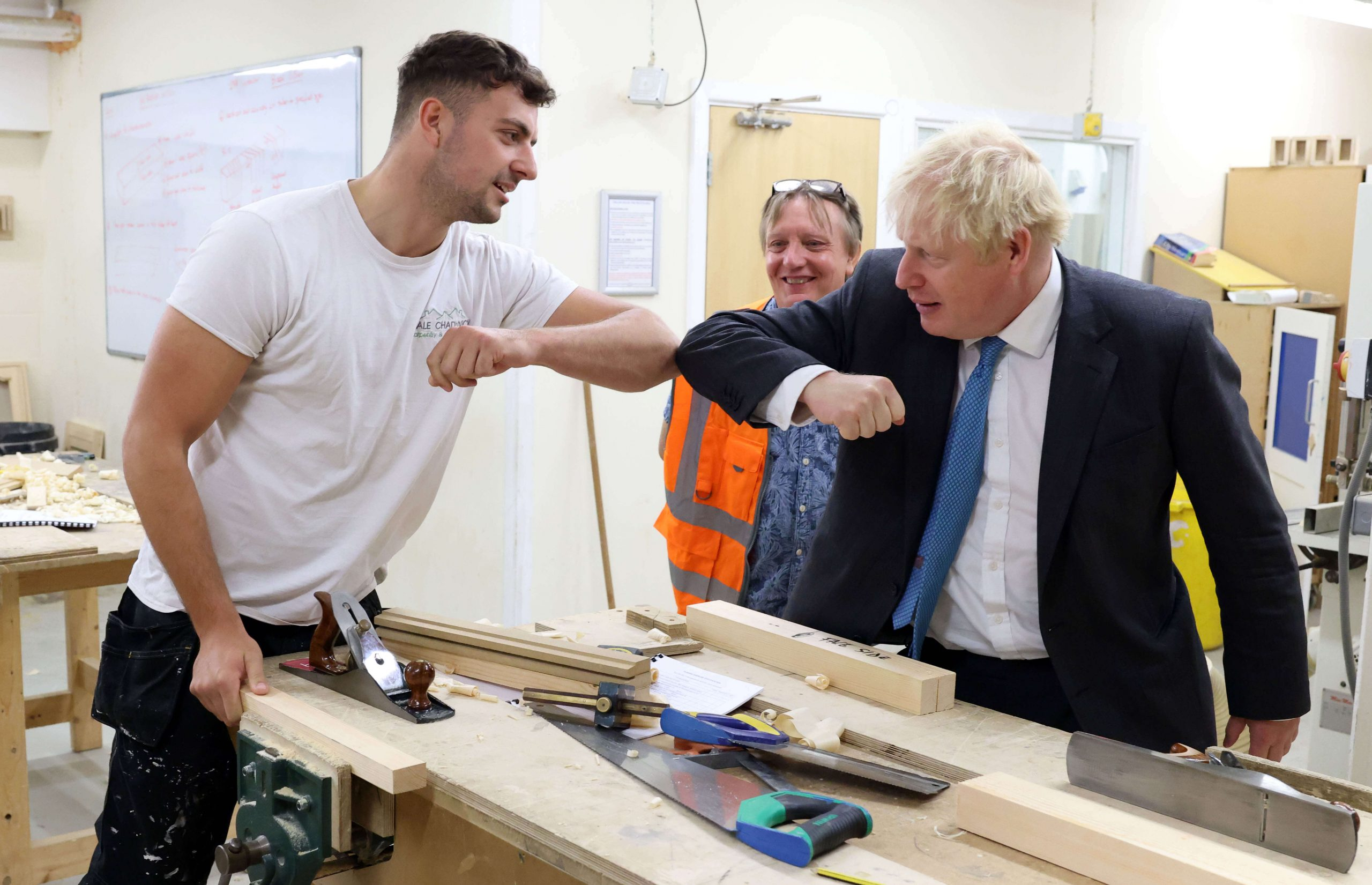 Photos Prime Minister Boris Johnson Visits Awesome Exeter College