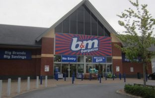 B&M Bargains at the Rydon Lane Retail Park in Exeter.