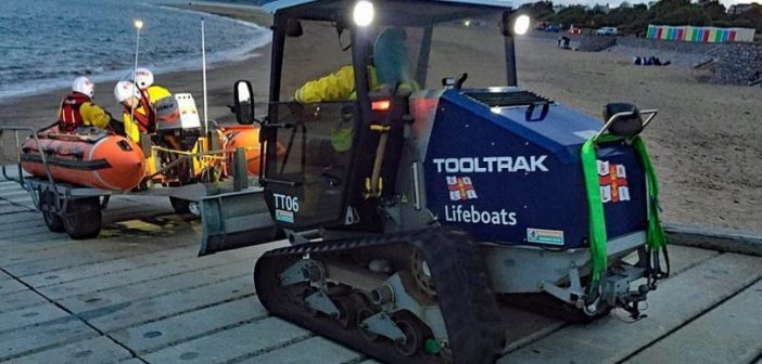 Exmouth inshore lifeboat launches in mudflats search for two people