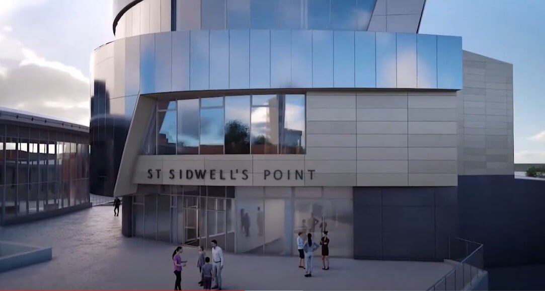 Exeter How St Sidwell's Point will look. Images: Exeter City Council