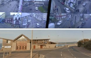The new CCTV camera, funded by the Police and Crime Commissioner for Devon and Cornwall, is situated above Exmouth Lifeboat Station on Queen's Drive. Image, top: OPCC. Image, bottom: Google Maps