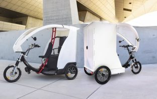 An example of what the e-trikes proposed in Sidmouth could look like. Image from www.yokler.com/en/