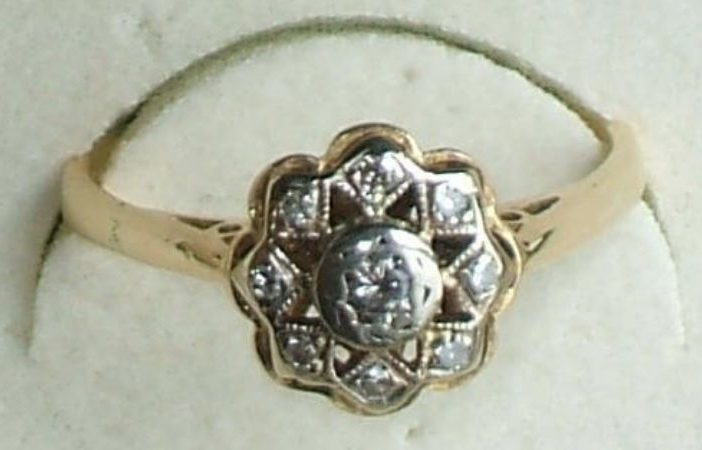 The diamond engagement ring stolen from the Sidmouth area.