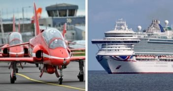 PHOTOS: Focus falls on cruise ships and Red Arrows in East Devon