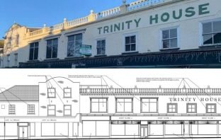 Proposals have been submitted for Trinity House in Axminster. Image, top: Axminster Property. Image, bottom: From the planning application/ NDM Collins Architects