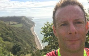 Tim Wigram, from Rawridge near Honiton, is running the virtual London Marathon in East Devon. Picture: Tim Wigram