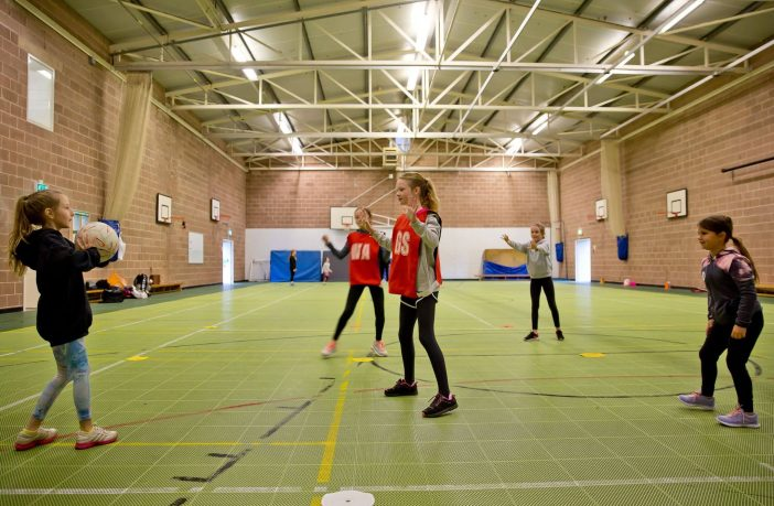 Under-11s coaching. Picture: Sidmouth Netball Club